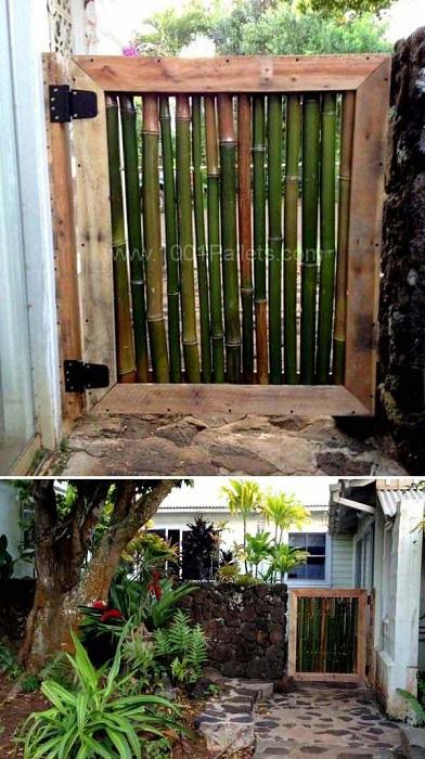 Симпатичный заборчик из бамбука украсит любой двор.