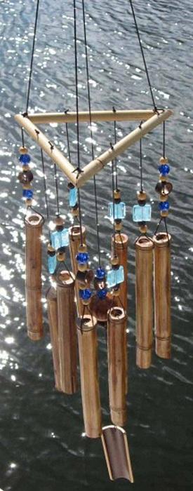 Красивый атрибут декора - бамбуковый перезвон.