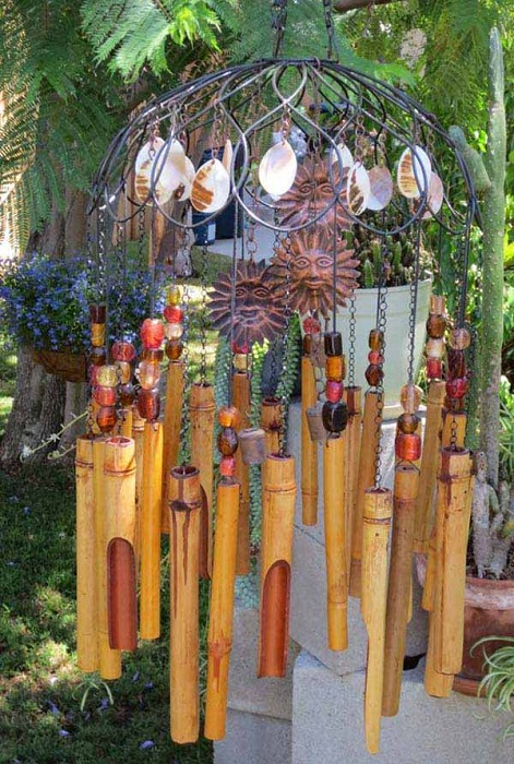Бамбуковый перезвон - милое решение для сада.