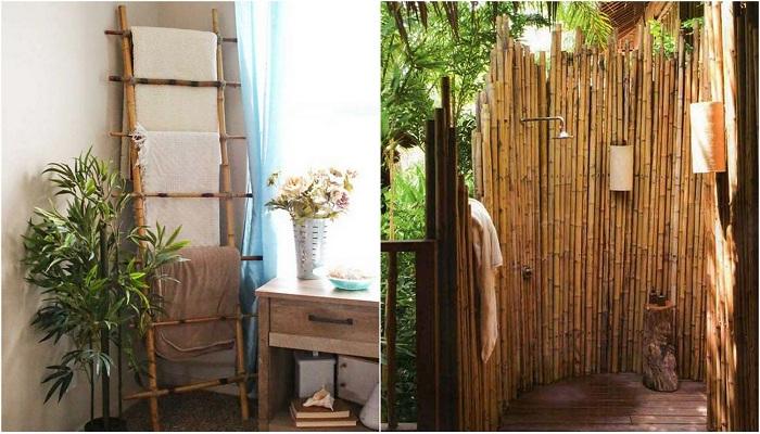 Декорирование при помощи бамбука.