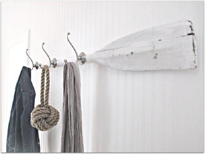 Необыкновенное летнее настроение возможно создать при помощи необычных фрагментов, например при помощи весла.