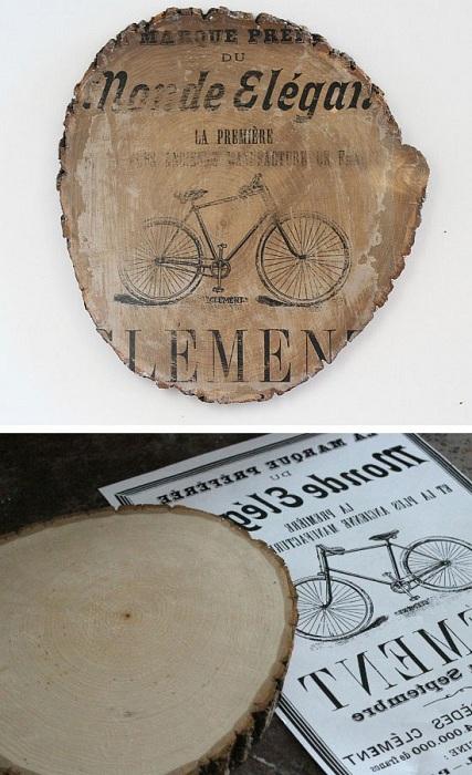 Деревянный срез служит отличной основой для создания красивых и творческих основ для искусства.