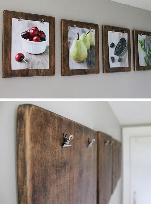 Прекрасные деревянные рамки для оформления картин, станут просто лучшей находкой для комнаты.