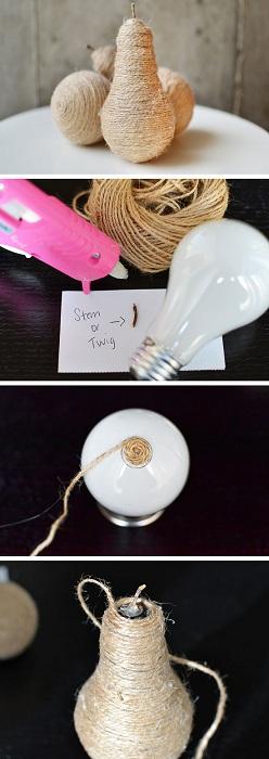 Стильный и отличный вариант создать декоративные украшения из самых обычных лампочек, то что понравится многим.