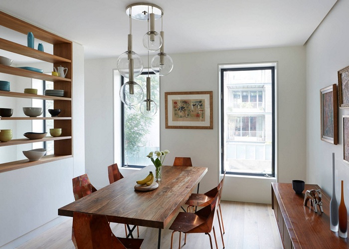 Интересный и оптимальный интерьер столовой, станет просто хорошим решением в интерьере.