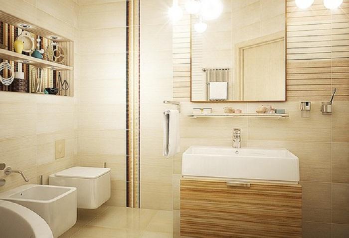 Светлые просторы ванной комнаты, станут просто отличной находкой для большой семьи.