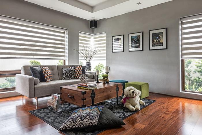 Шикарный вариант оформить гостиную таким образом чтобы хотелось проводить максимально много своего свободного времени.