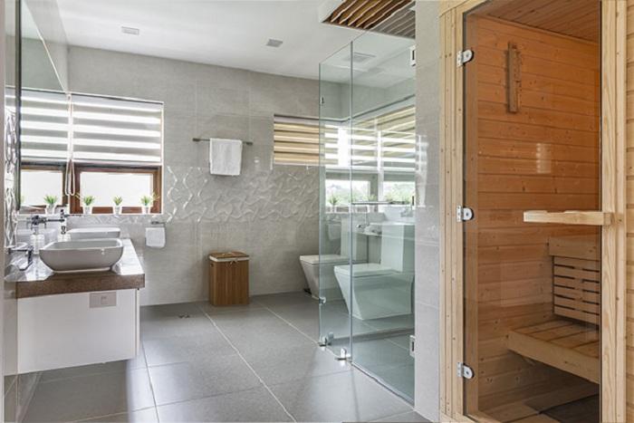 Просто шикарный интерьер ванной комнаты, который прост и является одним из самых лучших вариантов декорирования.