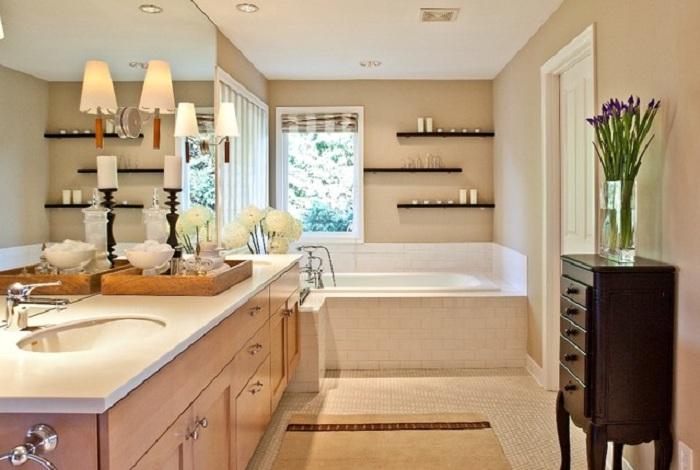 Сияние этой комнаты передает особенно теплое настроение и создает приятную атмосферу.