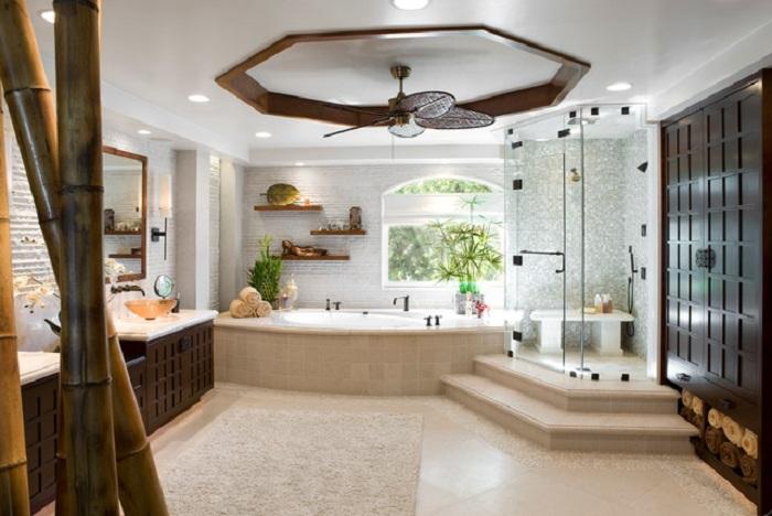 Отменное настроение в декорировании ванной комнаты, что станет просто самым лучшим вариантом для создания стильной атмосферы.
