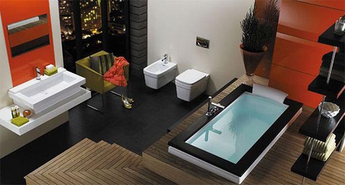 Хороший и симпатичный дизайн ванной комнаты что станет просто отличным решением для декора.