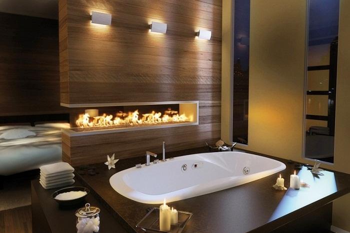 Возможно создать максимальный уют в комнате при помощи отличного оформления с помощью огня.