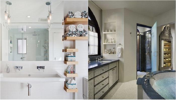 Примеры оформления современных ванн и душевых.