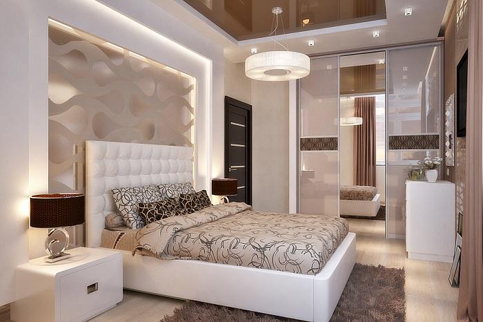 Прекрасный декор спальной в легких и мягких тонах, что добавит особенного шарма интерьеру.