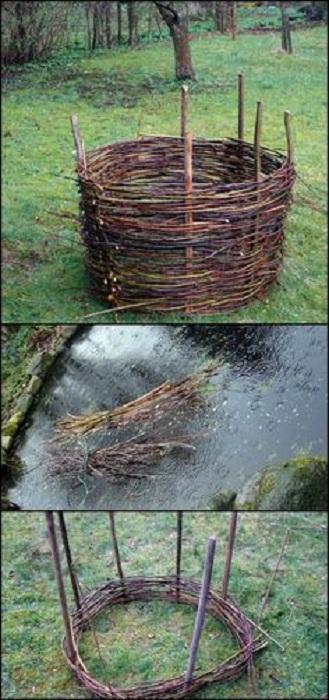 Плетеные грядки отлично впишутся в оформление любого сада и создадут отличную атмосферу в нем.
