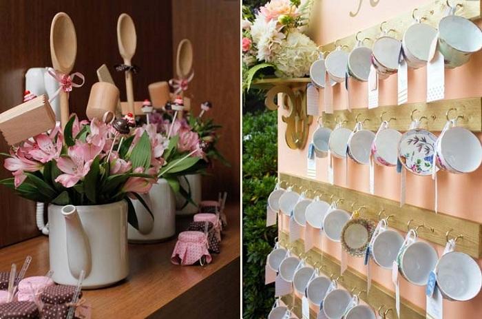 Яркие идеи для оформления сада при помощи столовых приборов и чайников, то что смотрится просто невероятно и интересно.