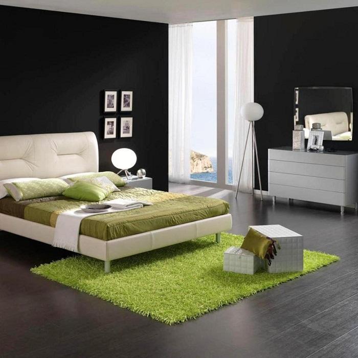 Колоритная комната для отдыха и сна.