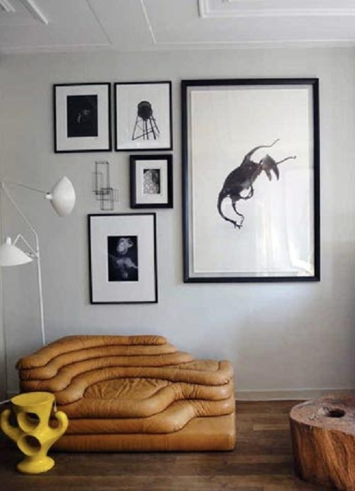 Декорирование гостиной в серых тонах, прекрасный вариант для оформления комнаты.