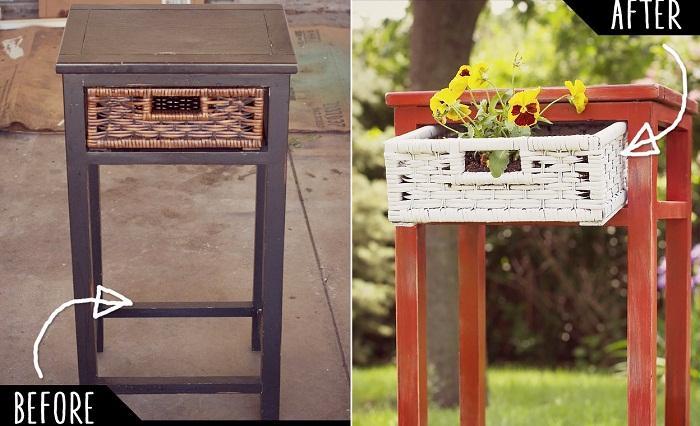 Интересный и удобный вариант создать стул с ящиком.