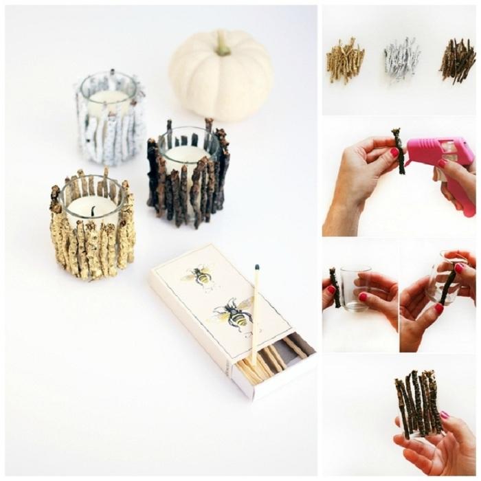 Интересное решение для обустройства романтичной атмосферы - создание подсвечников своими руками.