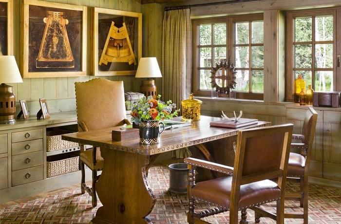 Множество интересных деталей украшают домашний интерьер в деревенском стиле.