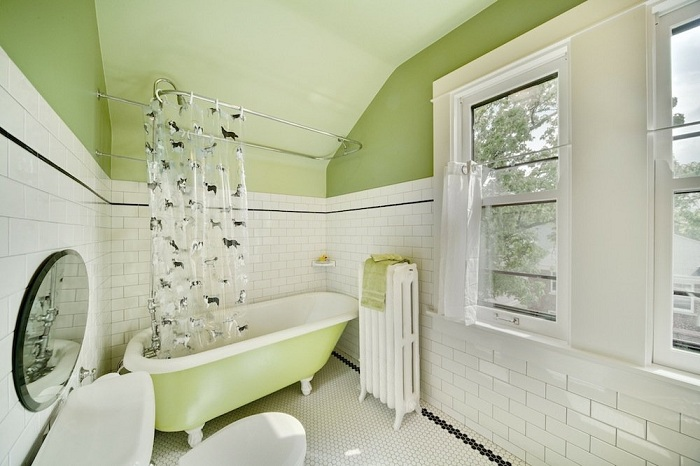 20 вдохновляющих идей по использованию винтажной плитки в ванной комнате