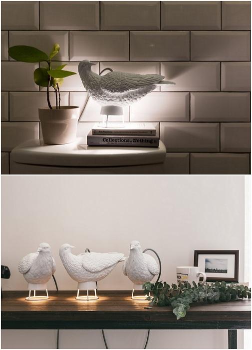 Крутые светильники-голуби красивое решение для создания уюта в комнате.