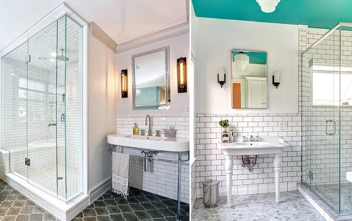Идеи для украшения ванной комнаты плиткой.