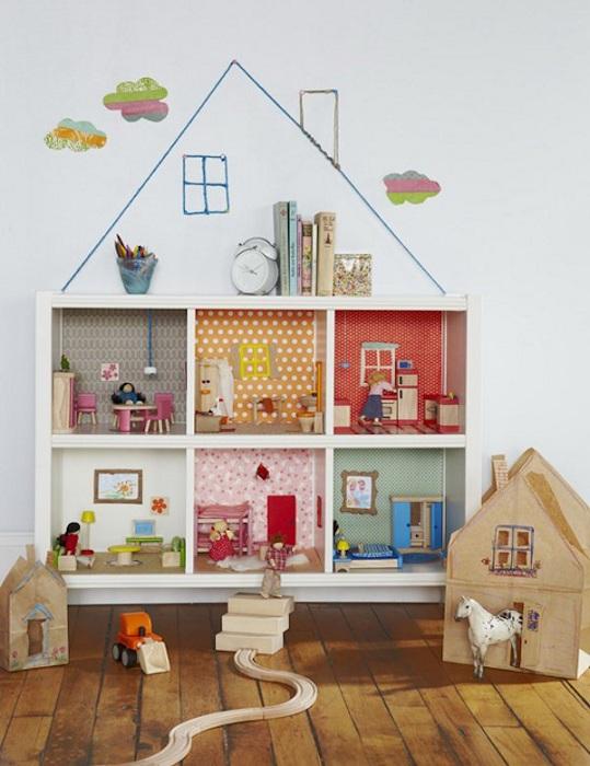 Красивое оформление детской комнаты, что выглядит очень интересно и нестандартно.