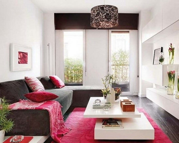Гарне рішення створити крутий інтер'єр вітальні з маленькою площею, що сподобається.