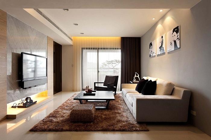 Невелика вітальня стане чарівною завдяки правильній збірці колірного оформлення.