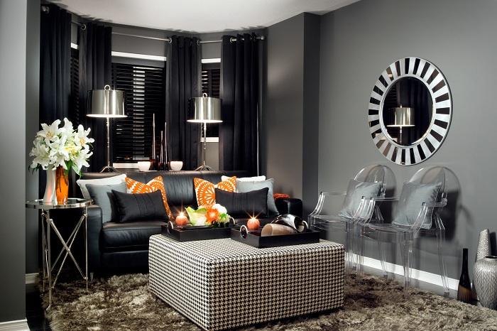 Отличное решение для оформления интерьера гостиной небольших размеров.