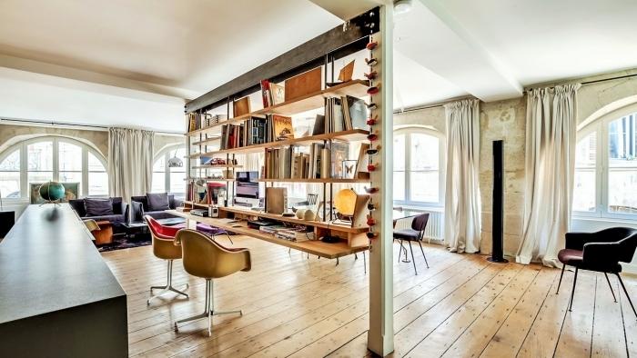 Крутое оформление домашнего офиса в индустриальном стиле - особенное и креативное решение для организации дома.