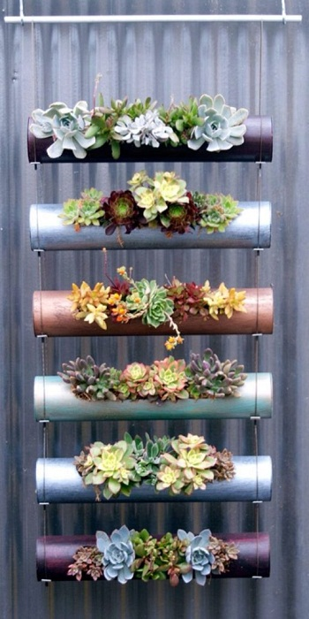 Весьма симпатичный и интересный вариант создания такого крутого мини-сада, что займет минимум места.