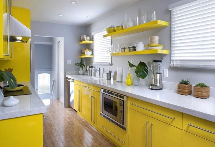 Сладкое настроение способна подарить кухня в таких нежных и в тоже время сладких тонах, которые создают по-своему необычный уют.