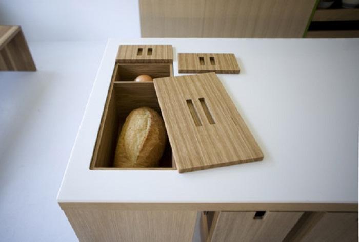 Отличная идея для хранения выпечки на кухне, что не только понравится, но и создаст уютную обстановку.