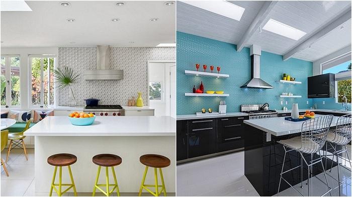 Примеры кухонь, которые демонстрируют контраст.