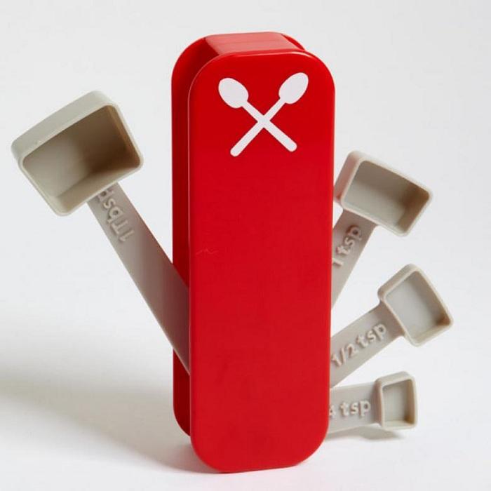 Швейцарский нож в стиле мерные ложки, что станет находкой для любой кухни.