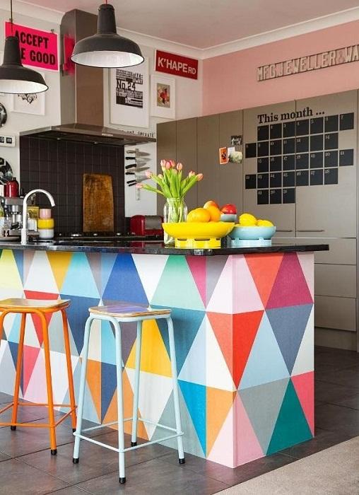 Отличное решение для оформления кухни в современном стиле, что точно понравится.