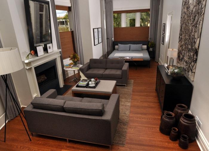 Интересные нотки в оформлении спальной в серых тонах разных оттенков, то что станет необычным сочетанием при декорировании комнаты.