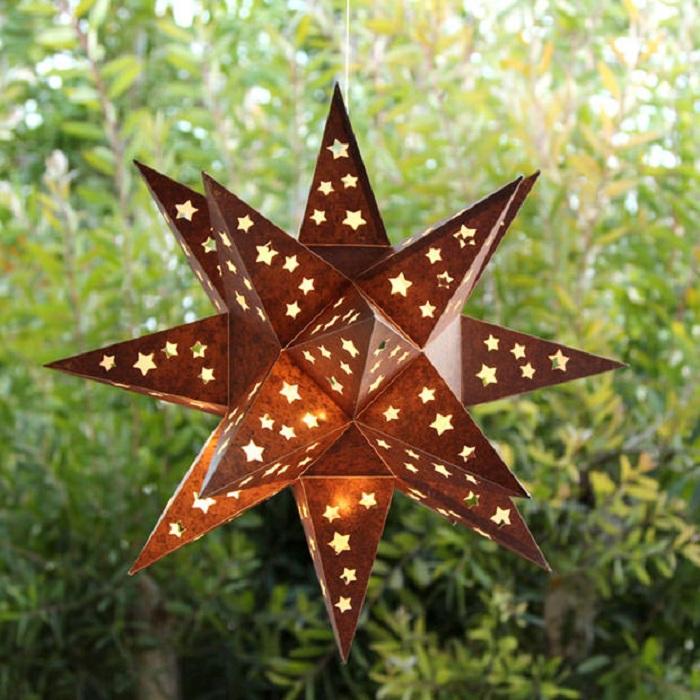 Хорошенький фонарик своими руками в форме звезды, то что по-настоящему прекрасно.