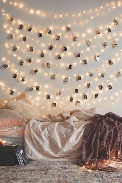 Вариант подсветки стены, что останется навсегда в Вашей памяти.