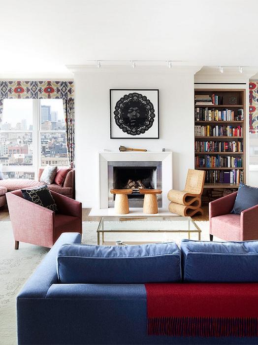 Крутое решение для оформления гостиной с максимальным уровнем комфорта, что отобразился сразу же на интерьере.