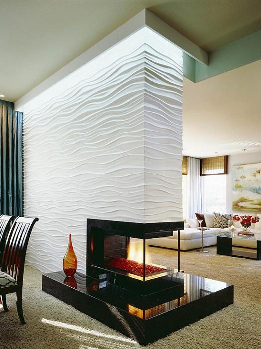 Оформление гостиной с камином, то что точно понравится и создаст уютную, теплую атмосферу.