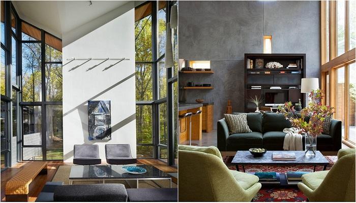 Примеры оформления гостиной в современном стиле.