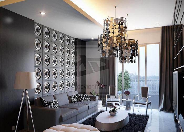 Невероятный интерьер гостиной, что станет просто изюминкой для любой квартиры, дома.