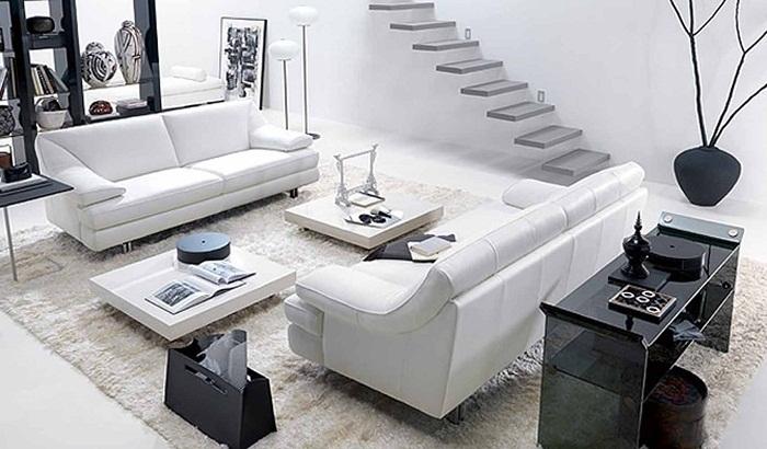 Черно-белый интерьер - решение для преображения комнаты в оригинальных тонах.