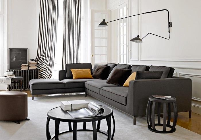 Гостиная комната в современном оформлении точно понравится и создаст легкость и уют.