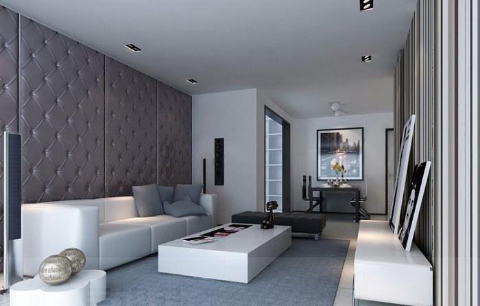Очень утонченный интерьер в серых тонах, что просто и прекрасно преобразит любую комнату.