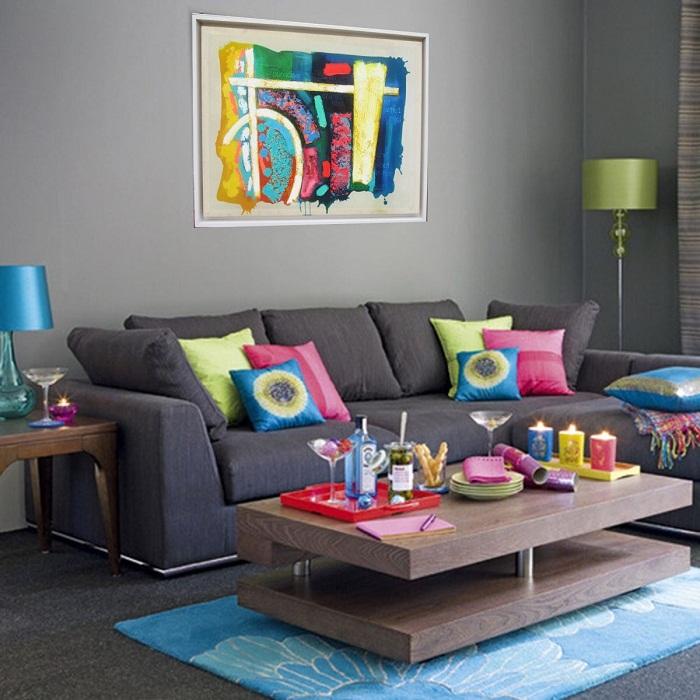 Симпатичные яркие мотивы в оформлении комнаты, что станут просто оптимальным решением для декора.